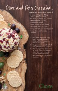olive feta cheeseball