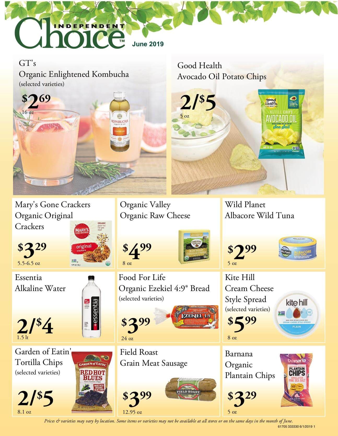 Ramona Family Naturals - monthly specials page 1