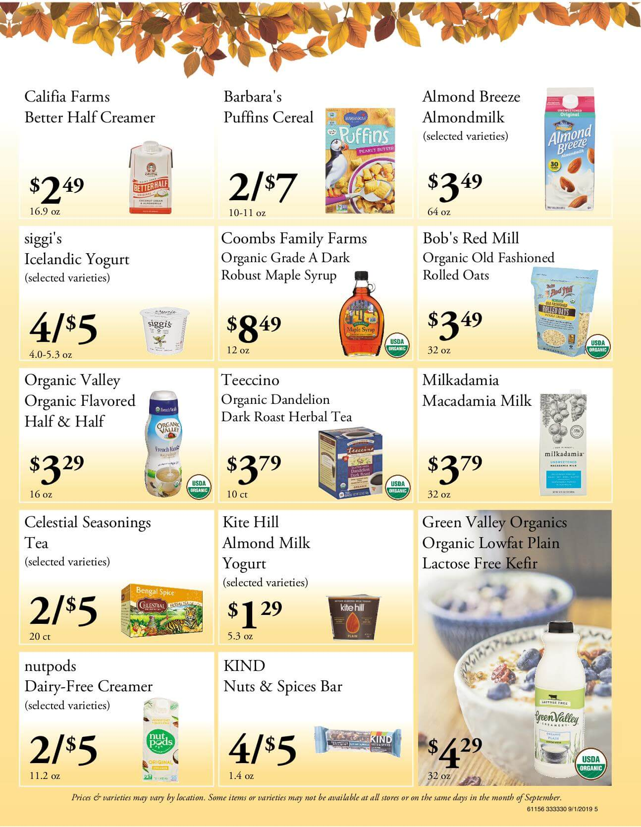 Ramona Family Naturals - monthly specials page 5