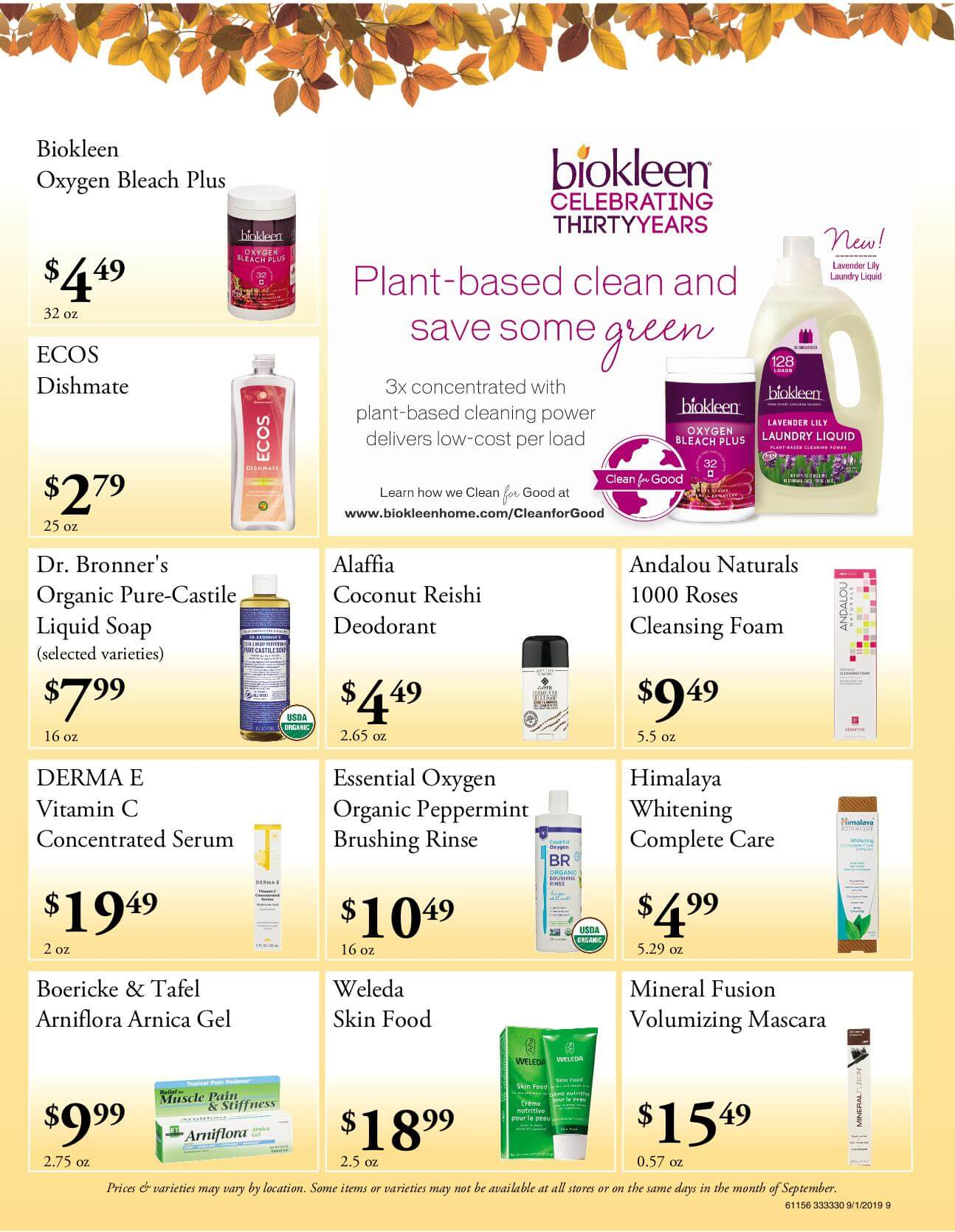 Ramona Family Naturals - monthly specials page 9