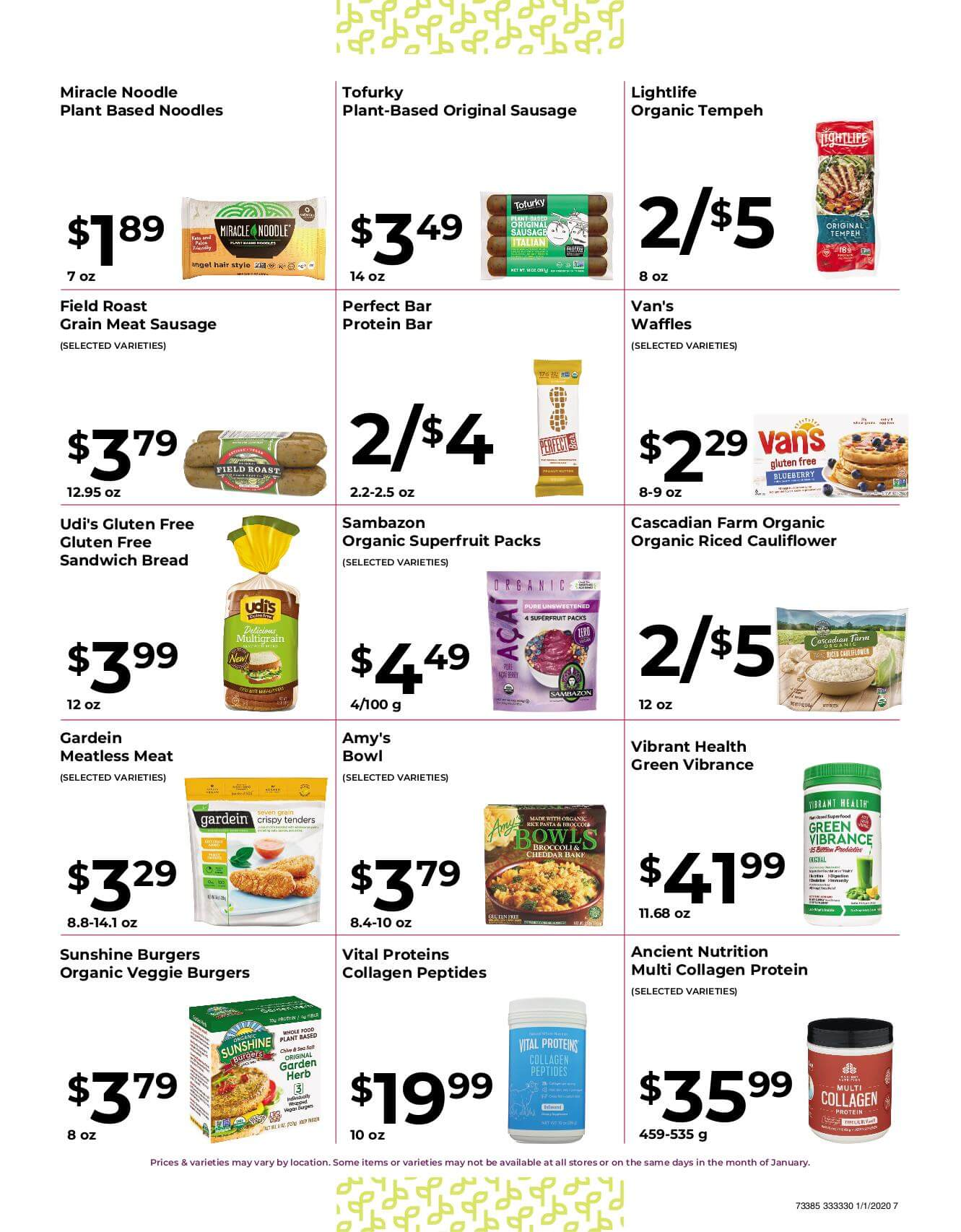 Ramona Family Naturals - monthly specials page 7